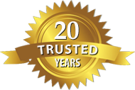 Prepaid Plans' 20 Trusted Years Gold Seal